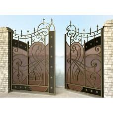 Ворота распашные из металла G15