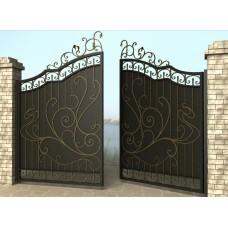 Ворота распашные из металла G16