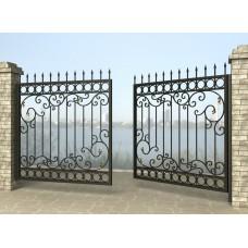 Ворота распашные из металла G22