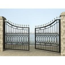 Ворота распашные из металла G24