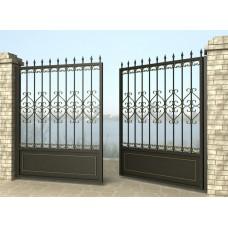 Ворота распашные из металла G26