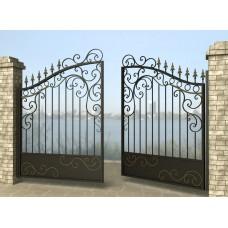 Ворота распашные из металла G27