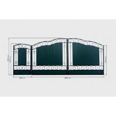 Ворота из профнастила PP22