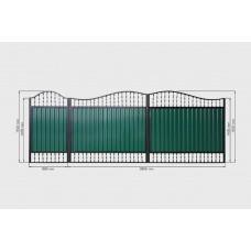 Ворота из профнастила PP26