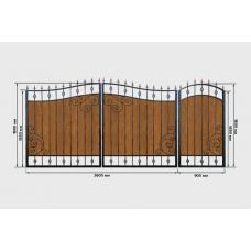 Ворота из профнастила PP29