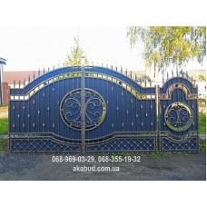 Ворота металлические P7