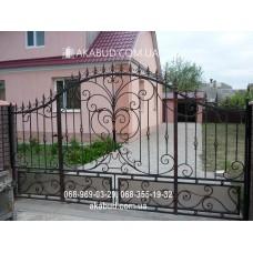Ворота металлические P10