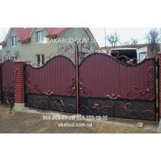 Ворота металлические P34