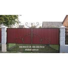 Ворота металлические P58