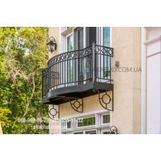 Кованые перила на балкон QR2