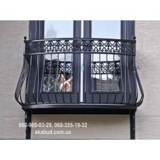 Кованые перила на балкон QR11