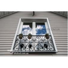 Кованые перила на балкон QR12