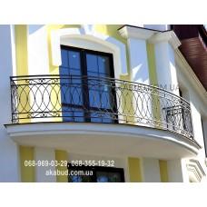 Кованые перила на балкон QR14