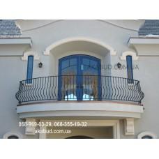 Кованые перила на балкон QR15