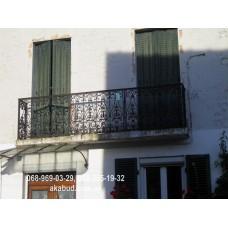 Кованые перила на балкон QR17