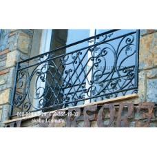 Кованые перила на балкон QR18