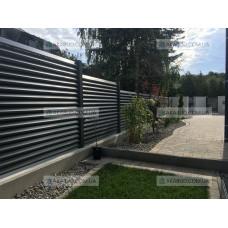Забор жалюзи из ламелей Р19