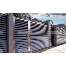 Забор жалюзи из ламелей Р23