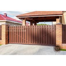Ворота для забора, откатные ворота