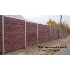 Бетонный забор - Бут Коричневый