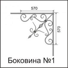 Боковины козырьков № 1
